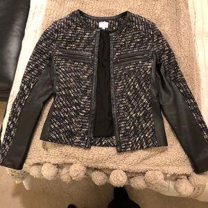 Parker leather tweed jacket size s